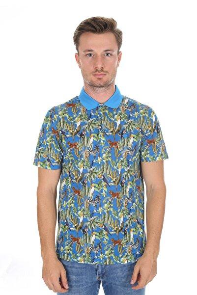 Diandor Polo Yaka Erkek T-shirt Mavi-a.mavi 2117200