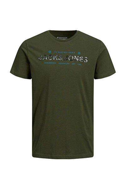 Jack & Jones Jack&jones 12193708 Onu Kamuflaj Dolgu Yazılı 0 Yaka K.kol T