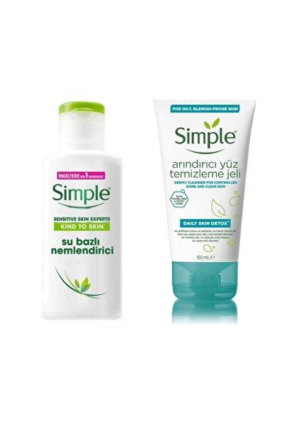 Simple Su Bazlı Nemlendirici 125 ml Ve Arındırıcı Yüz Temizleme Jeli 150 ml