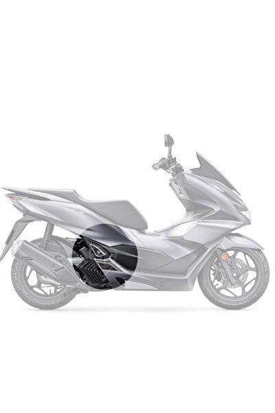 3M Honda Pcx 125 2021 Gri Motosiklet Için Karbon Desen Beyaz Basamak Ve Basamak Altı Koruyucu Pad