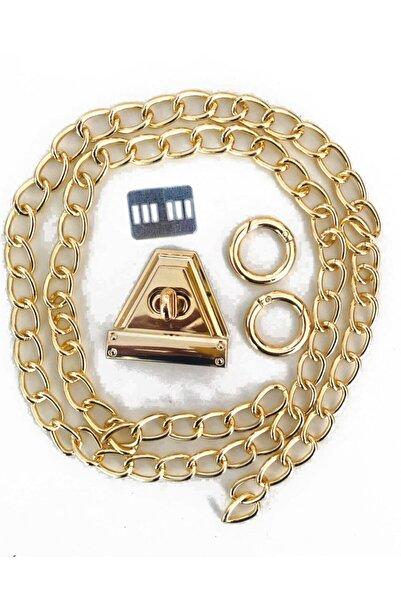 Alfa Tasarım Zincir ve Klips Çanta Yapım Seti  Altın Renk Metal Aksesuar