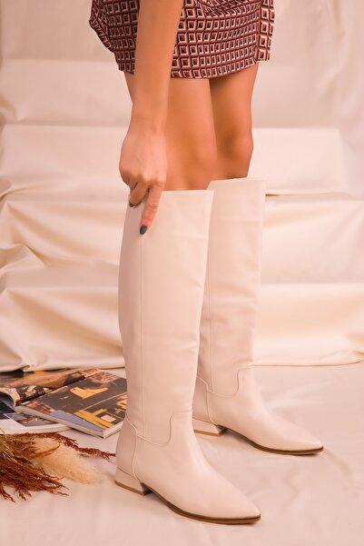 SOHO Kadın Bej Çizme 16526