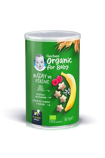 GERBER Organik Pirinçli, Buğdaylı, Muzlu Ve Ahududulu Bebek Atıştırmalığı 35 gr