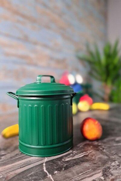 The Mia Tezgah Üstü Çöp Kovası 4lt - Koyu Yeşil
