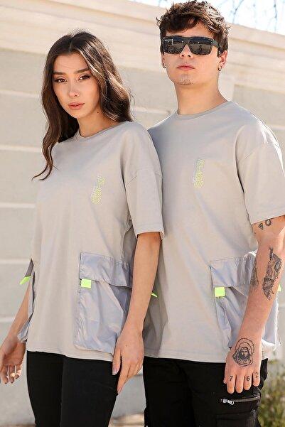 Doruk Butik Sevgili Kombini Cep Detayli Tişört