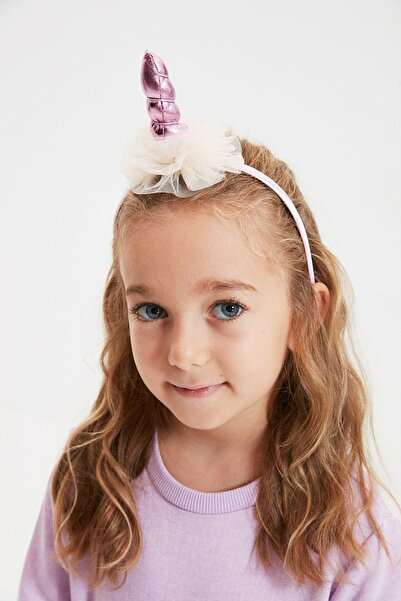 TRENDYOLKIDS Lila Unicorn Aksesuarlı Kız Çocuk Taç TKDAW22TC0001