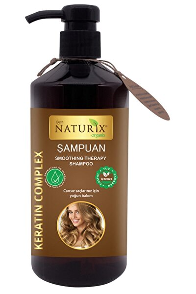 Naturix Yıpranmış Saçlar Tuzsuz Şampuan Keratin Şampuanı Keratinli Şampuan 600 ml