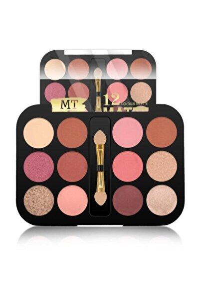 Makeuptime Mt 12'li Matte Far Paleti 01 (ortası Aplikatör)