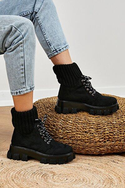 Tonny Black Siyah Kadın Çorap Bot Tb1810
