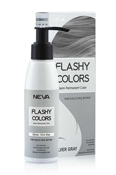 Neva Gümüş Flashy Colors Yarı Kalıcı Set Saç Boyası  100 ml