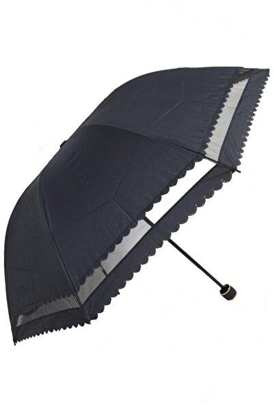Marlux Siyah Dantelli Kadın Şemsiye