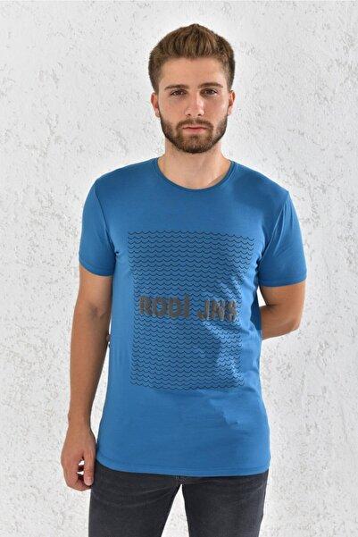Rodi Erkek Likralı Baskılı T-shirt Rd21ye270006