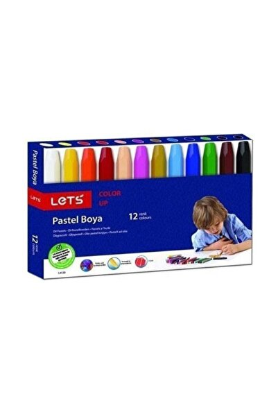 Lets 12 Renk Pastel Boya L-6120