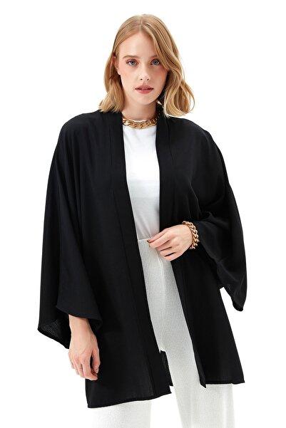 Muni Muni Rahat Kesim Kimono-50440-siyah