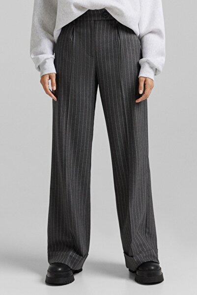 Bershka Bel Bantlı Wide Leg Pantolon