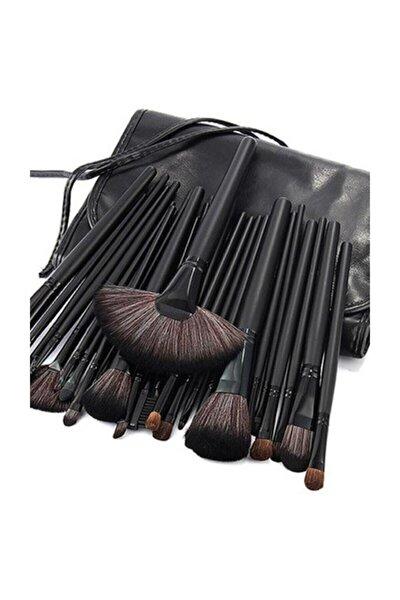 İzla 24 Parça Siyah Çantalı Makyaj Fırça Seti