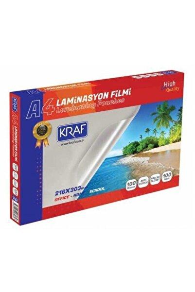 KRAF A4 Laminasyon Filmi - Parlak A4 100 Mikron 100'lü