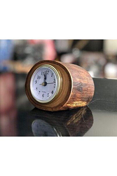 HMNL Dekoratif Kütük Masa Saati Ahşap