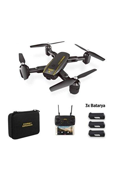 Corby Cx015 Wifi Kameralı Katlanabilir 1080p Smart Drone + 3 Batarya