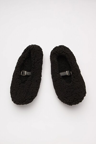 Penti Siyah Fuzzy Belted Patik