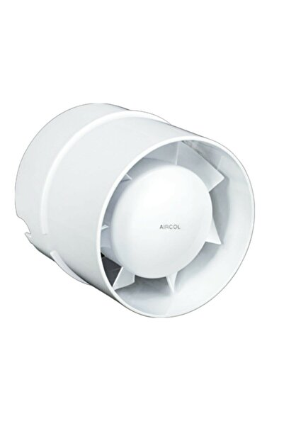 Aircol Sessiz Kanal Tipi Fan Plastik Banyo Tuvalet Baca Aspiratörü 100 M³/h 100'lük Aırcol-100kt