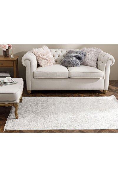 English Home Şal Desen Polyester Halı 80x150 Cm Vizon