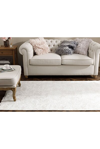 English Home Şal Desen Polyester Halı 120x180 Cm Ekru