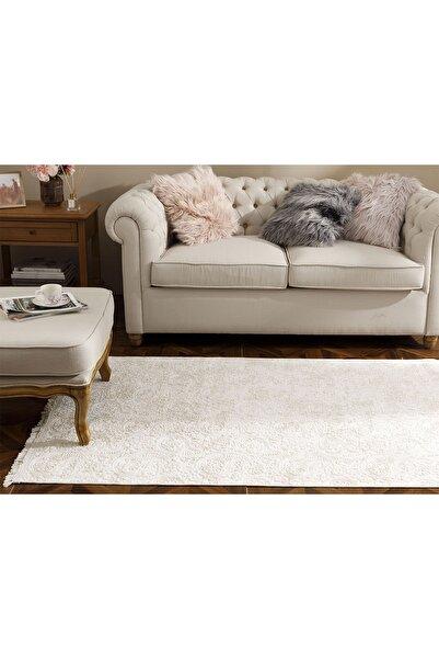 English Home Şal Desen Polyester Halı 120x180 Cm Bej