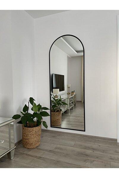 EFFE YAPI DEKOR Siyah Metal Çerçeveli Oval Boy Aynası 180 X 70 Cm