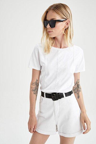 DeFacto Brode Detaylı Relax Fit Kısa Kollu Tişört