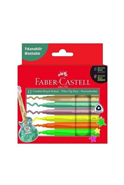 Faber Castell Comfort Keçeli Metalik Neon 12'li