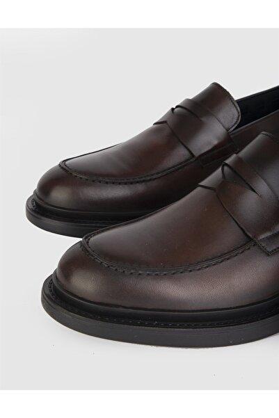 İLVİ Ajax Hakiki Deri Erkek Kahve Loafer Ayakkabı