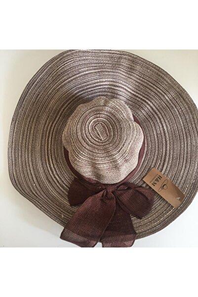 horozbutik Bayan Plaj Şapkası Kenarları Çelik Telli