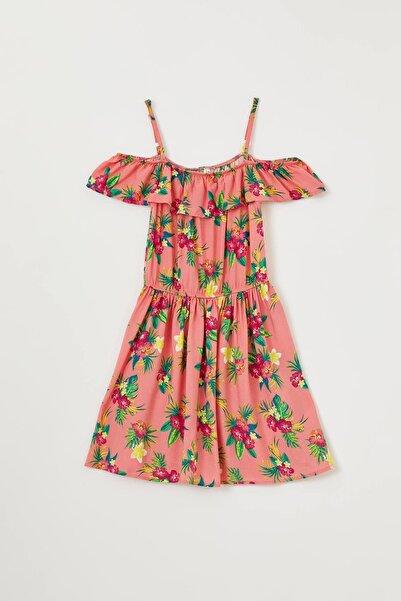 DeFacto Kız Çocuk Çiçek Desenli Askılı Elbise