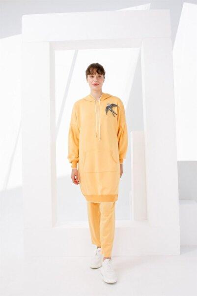 Ghisa Büyük Beden Kapşonlu Tunik Pantolon Takımı Mango