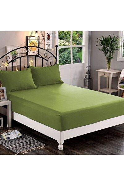 AsyaHome Çift Kişilik Haki Yeşil Lastikli Çarşaf 160x200cm