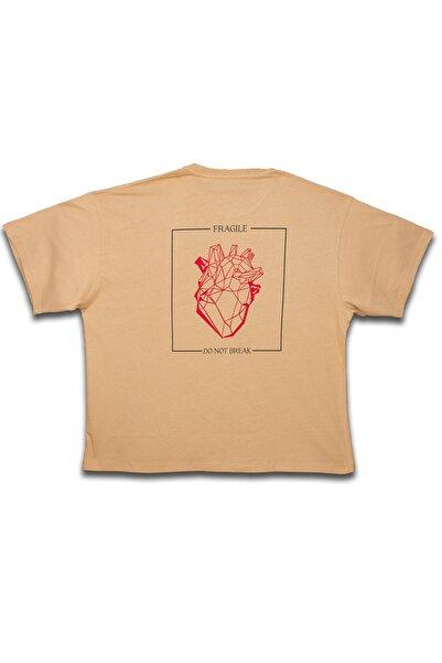 DISAPPEAR WEAR Heartbreak Camel T-shırt
