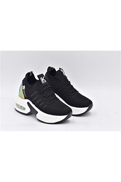 Guja 21k300-7 Mega Taban Topuklu Kadın Spor Ayakkabı - Siyah - 37