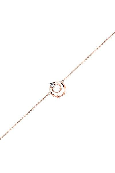 So CHIC... Yıldız Figürlü 18 Ayar Rose Altın Kaplama Bileklik