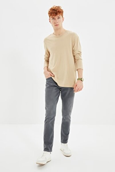 Antrasit Erkek Slim Fit Jeans TMNSS21JE0068