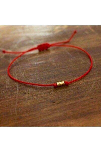 PEARL BEADS Minimalist Kırmızı Ip Bileklik