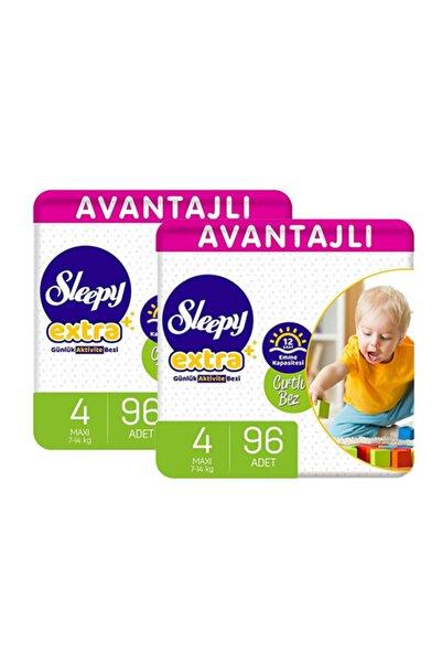 Sleepy Extra Avantajlı Bebek Bezi 4 Numara Maxi 96 Lı X 2 Adet