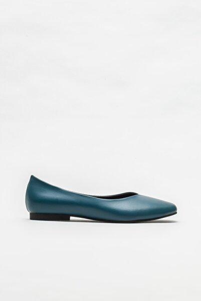 Elle Shoes Mavi Kadın Babet