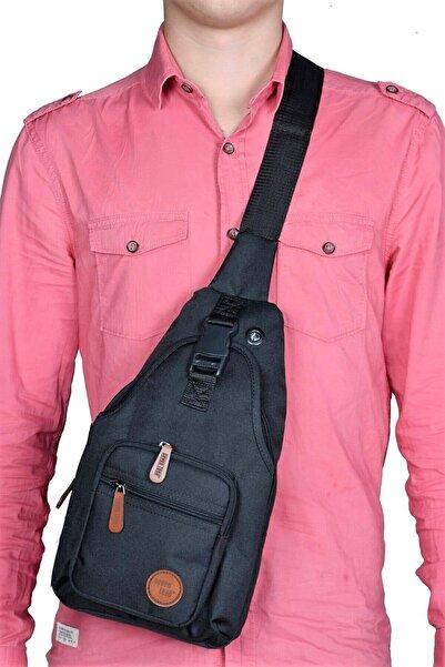 SEVENTEEN 5 Gözlü Siyah Çapraz Askılı Göğüs Ve Sırt Çantası,body Bag
