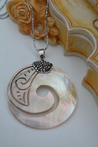 Stoneage Jewellery Sedef Doğal Taşlı Tasarım Kolye