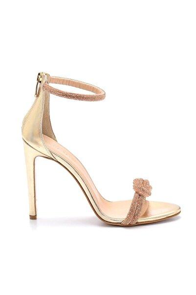 Sofia Baldi Mish Gold Deri Kadın Stiletto Abiye