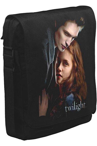 Lord T-Shirt Twilight Unisex Siyah Postacı Çanta
