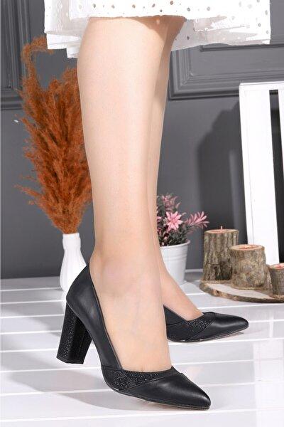 Ayakland 132-1122 Cilt Günlük 8 cm Topuk Kadın Ayakkabı