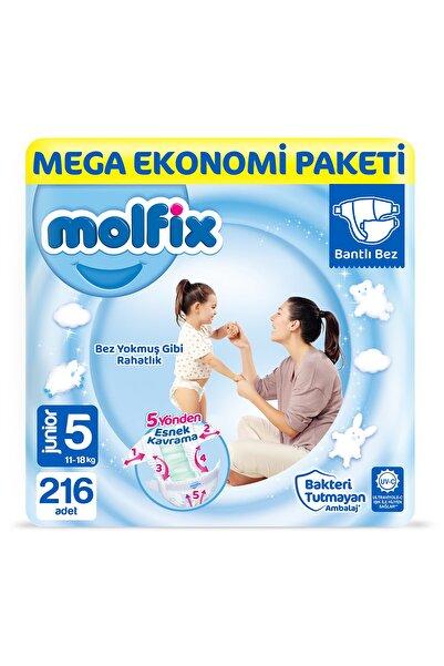 Molfix Bebek Bezi 5 Beden Junior Mega Ekonomi Paketi 216 Adet ty