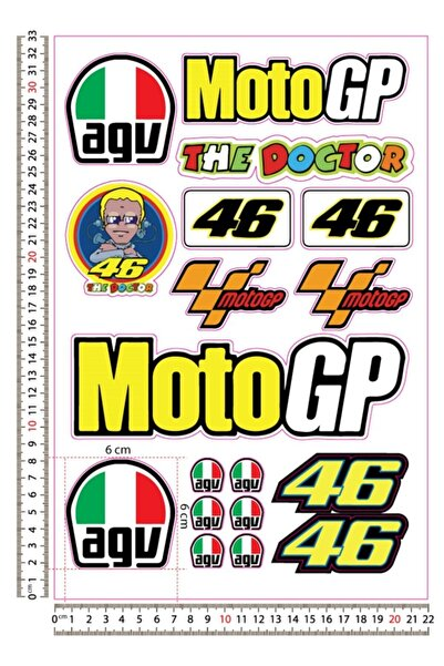 3M Motgp The Doctor Agv Sticker Set